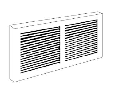 Baseboard Grille #657